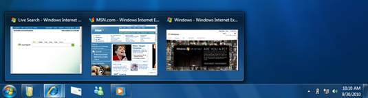 Windows Taskbar Previews