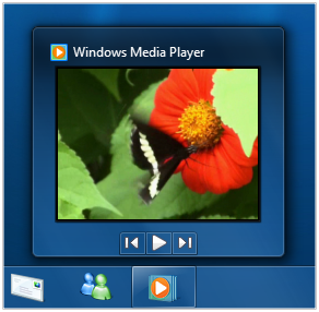 Windows Media Player - Taskbar Thumbnail
