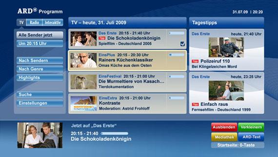 Screenshot HBB TV