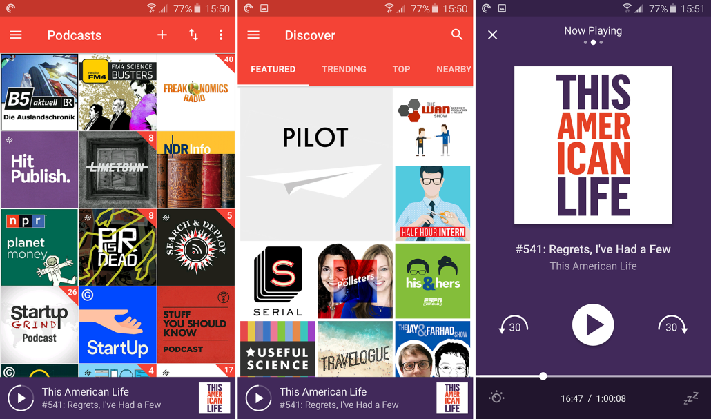 Pocket Casts für Android